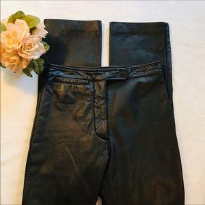 Wilson Maxima Black Leather Pants